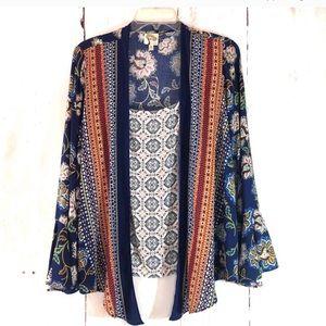 Anthropologie Boho Kimono w/ Attached Tank (M)